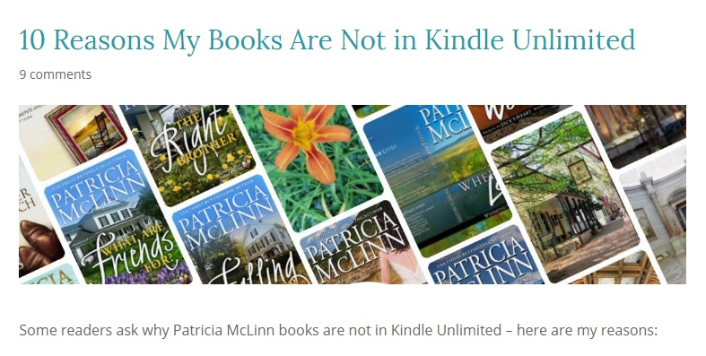 10 reasons why my books are not in kindle unlimited